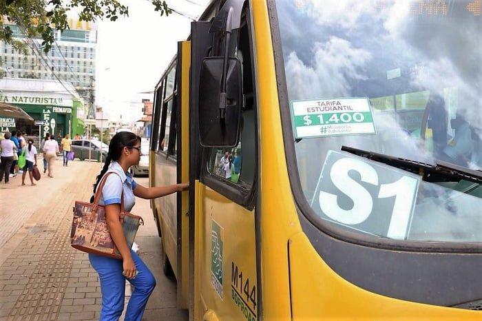 Tarifa diferencial de transporte público para estudiantes se mantendrá en $ 1.400 en este 2017