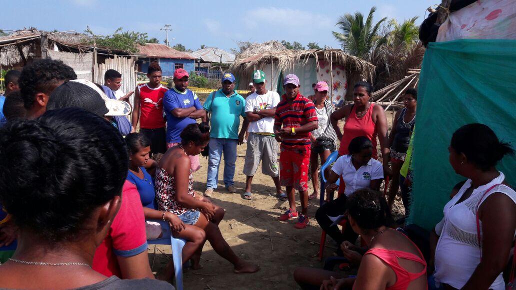 Cerca de 80 familias invadieron un lote en el barrio Alfonso López en Moñitos