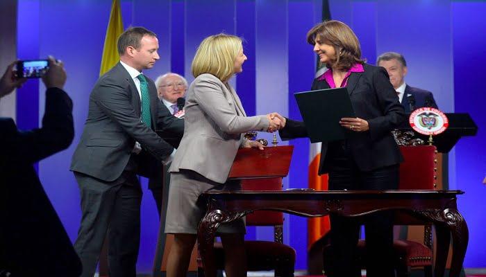 Gobiernos de Colombia e Irlanda firmaron acuerdos de cooperación entre cancillerías para promover la cultura y el deporte