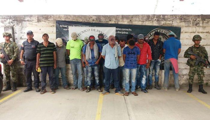 Capturan a 27 integrantes del Clan del Golfo por minería ilegal