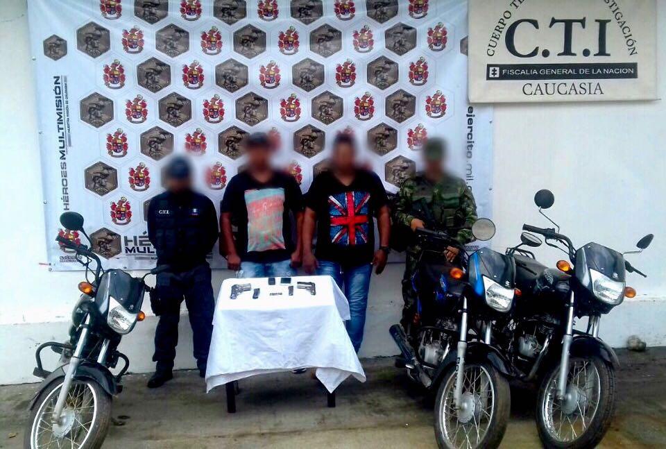 Ejército capturó en Caucasia a dos presuntos integrante del Clan del Golfo