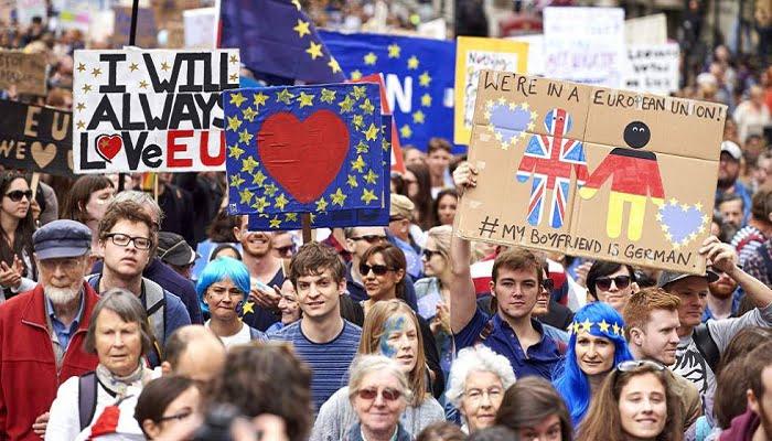 Manifestaciones en Londres en contra del Brexit