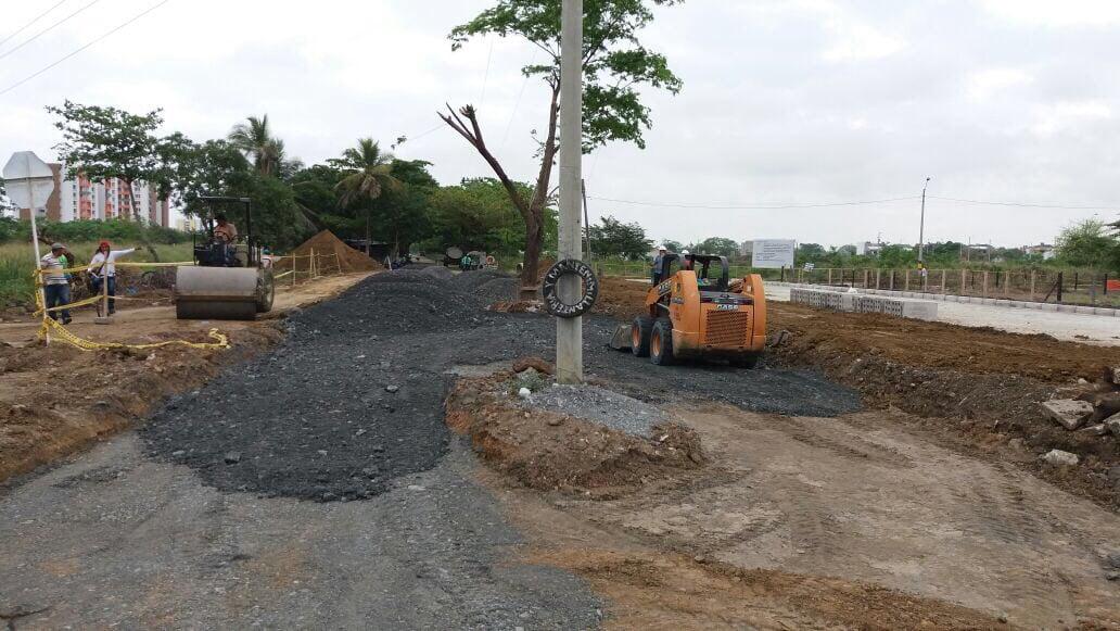 Así va la pavimentación de las vías de acceso al Mercado de Oriente