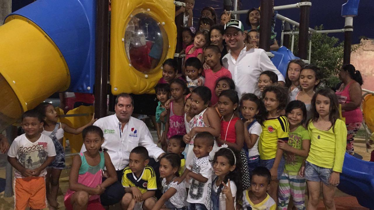 En el barrio Edmundo Lopez fue entregado el parque 17 en Montería