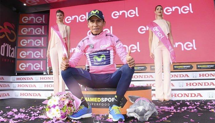Nairo es el nuevo líder del Giro y se viste de rosa tras ganar la novena etapa
