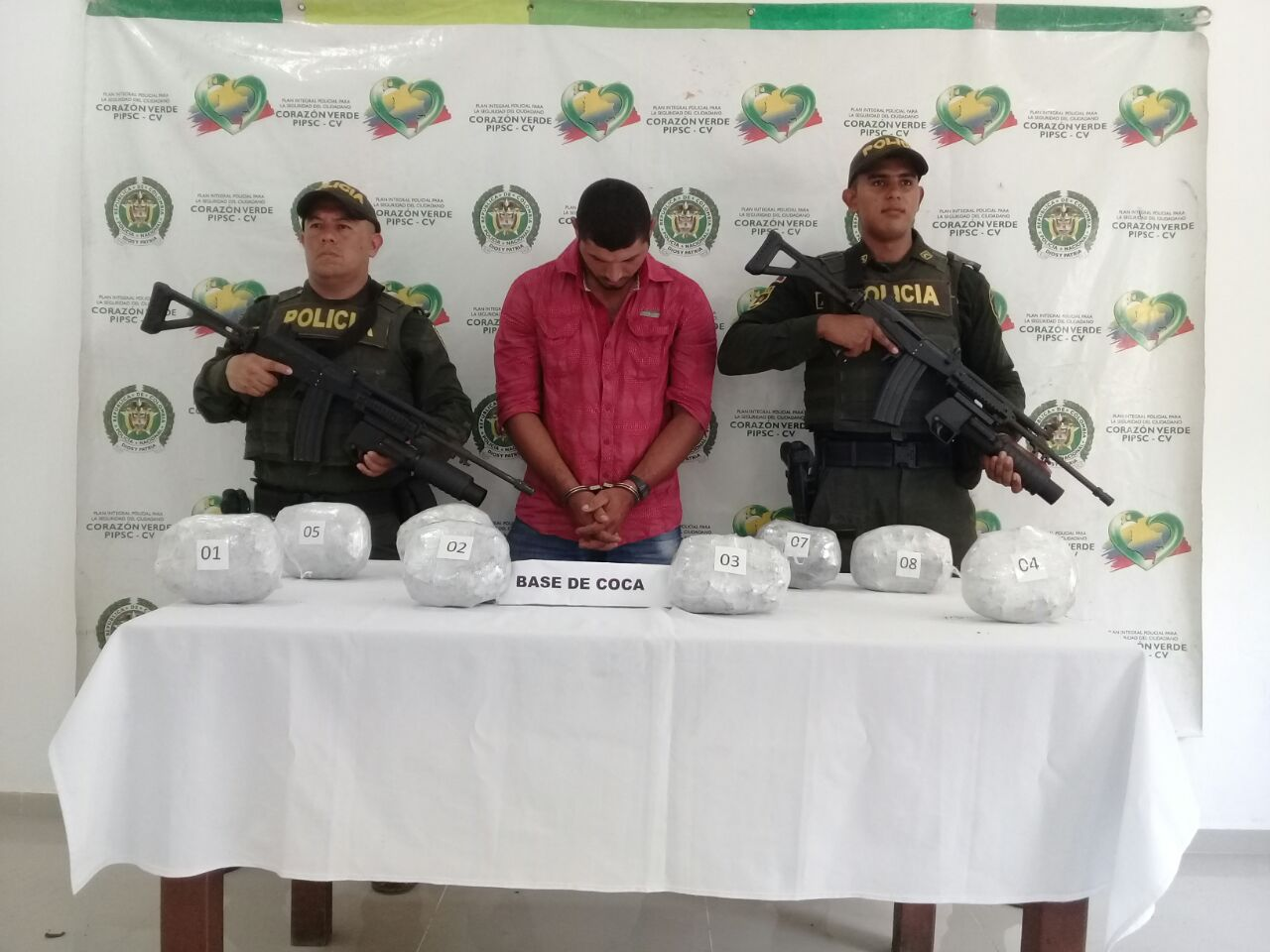 Capturado por tráfico de estupefacientes en Puerto Libertador