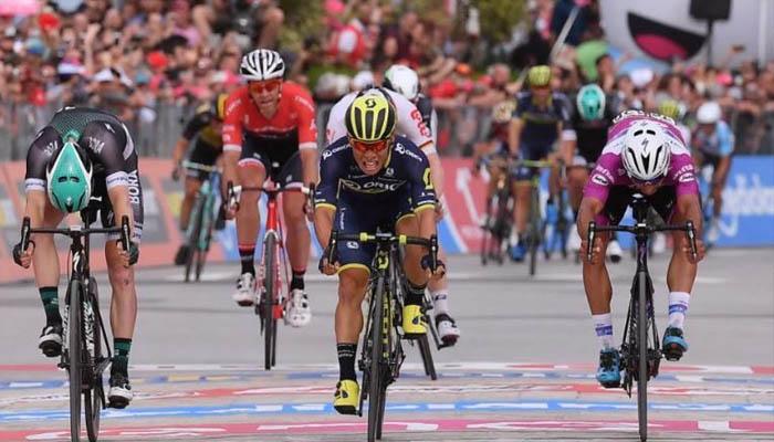 En apretado final, Gaviria fue segundo en la séptima etapa del Giro