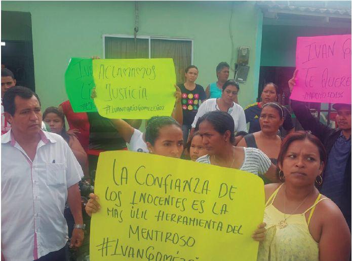 Iván Darío Gómez es un Falso Positivo: Familiares del detenido