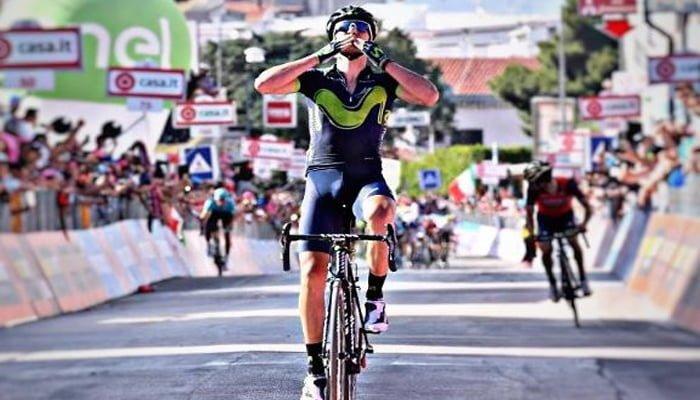 Izaguirre (Movistar) ganó la octava etapa del Giro de Italia