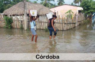 Veintidós mil es el número de familias damnificadas por la ola invernal en Córdoba