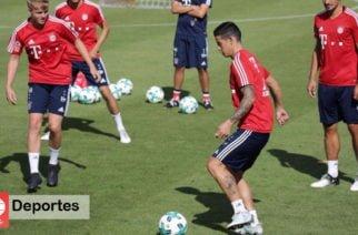 En un entrenamiento en elMunich, James Rodríguez se estrenó con un golazo en las redes con el equipo bávaro