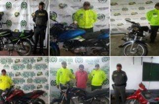 Recuperan seis motocicletas en Córdoba y capturan una persona