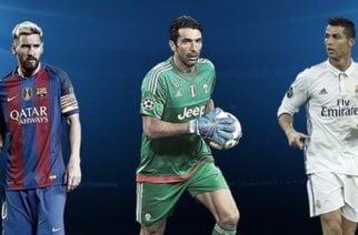 Lionel Messi, Cristiano Ronaldo y Gianluigi Buffon son los candidatos a mejor jugador del año de la UEFA