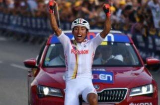 Egan Bernal gana etapa y es líder en el Tour de L' Avenir