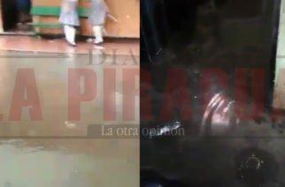 La Institución Educativa Isabel La Católica quedó bajo el agua