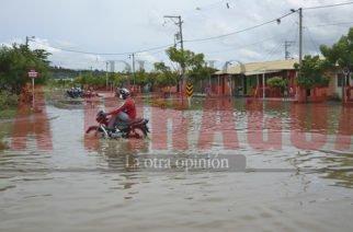 Muchos sectores del sur de la ciudad se encuentran bajo el agua