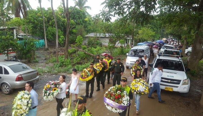 Con honores sepultan a patrullero Fredys Flórez
