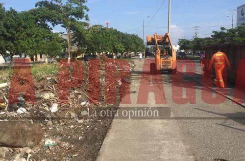 Limpian basureros clandestinos en la calle 41