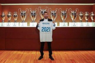 Benzema renovó con el Real Madrid hasta 2021