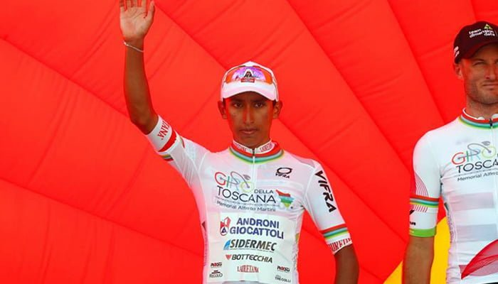Egan Bernal campeón de los jóvenes en el Giro Della Toscana
