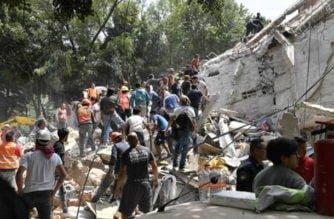 Terremoto de magnitud 7.1 que sacudió a México