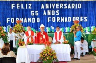 En Sahagún Con eucaristía, conferencias y talleres, normalistas celebran aniversario de la Institución Educativa