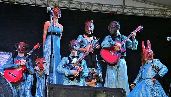 En Sahagún  Grupo Italiano, en acto de apertura del Festival Nacional de Cultura