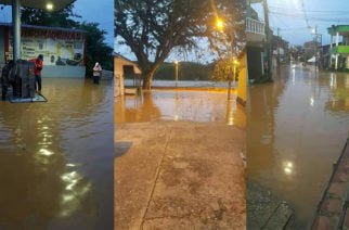 Barrios de Zaragoza amanecieron inundados por creciente del río Nechí