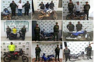 Nueve motocicletas recuperadas y cuatro personas capturadas por el delito de receptación
