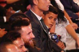 """El hijo de Cristiano Ronaldo, rendido ante Lionel Messi: """"Gracias, mi ídolo"""""""