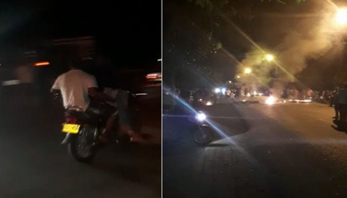 Ladrones quisieron robar en medio de protesta en Cereté y tras no poder uno falleció