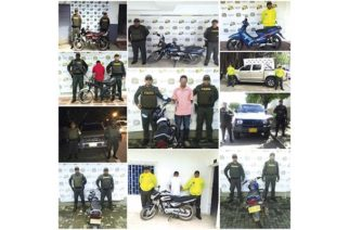 Tres personas capturadas y recuperadas siete motocicletas robadas