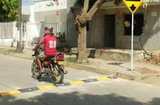 Instalan reductores de velocidad en Cereté