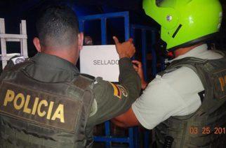 Cerrados establecimientos públicos por incumplimiento al código Nacional de Policía