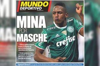 Yerry Mina llegaría al Barcelona en enero si se va Mascherano
