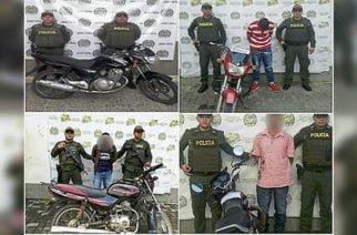 La Policía recuperó cuatro motocicletas y capturó a dos personas