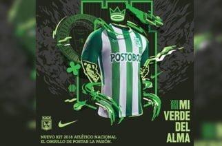 Atlético Nacional estrena camiseta para el 2018