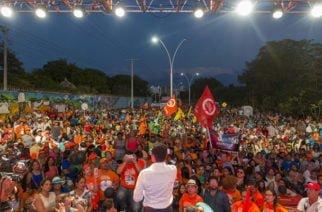 Caicedo reunió a 10.000 seguidores en Santa Marta