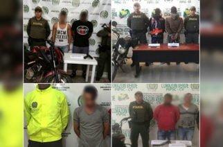 La Policía capturó en Córdoba a seis personas por hurto y la aprehensión de un menor