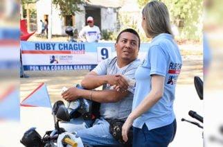 Gran respaldo de los mototrabajadores a Ruby Chagüi