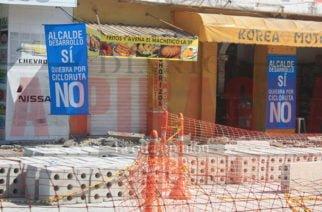 Comerciantes de la carrera segunda de Montería protestan contra el alcalde Marcos Daniel por los diseños de ese lugar