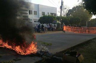 Protesta por pago de salario en Camu de Cotorra