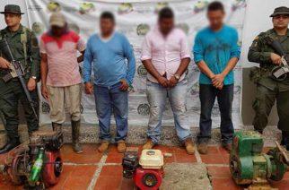 En zona rural de Uré propinan golpe a la minería ilegal