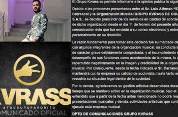 "Luis Alfonso ""El Nene"" Carrascal no seguirá en Kvrass"