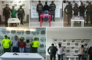Nueve personas capturadas por porte ilegal de armas de fuego