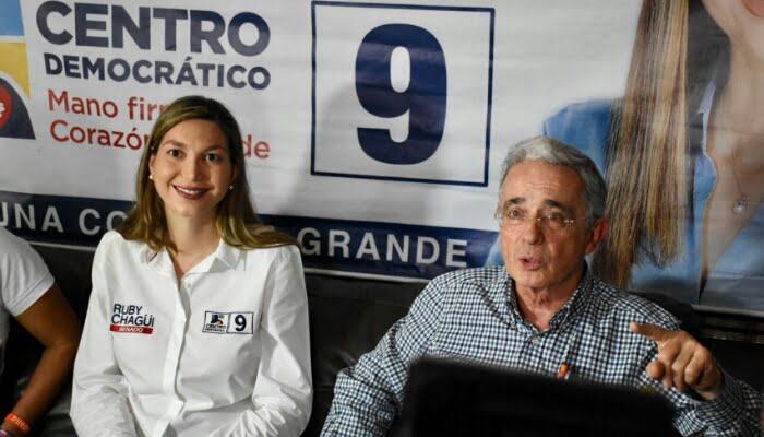 Ruby Chagüi tiene todas las virtudes para ser la gran dirigente política de Córdoba: Uribe
