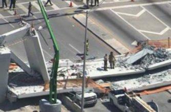 Colapsó puente en Miami