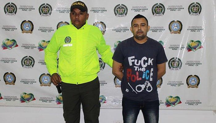 """Unidades Policiales capturaron alias """"El Tuti"""" del componente criminal Clan del Golfo"""