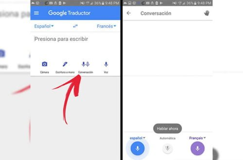 Traduce conversaciones en tiempo real con Google traductor