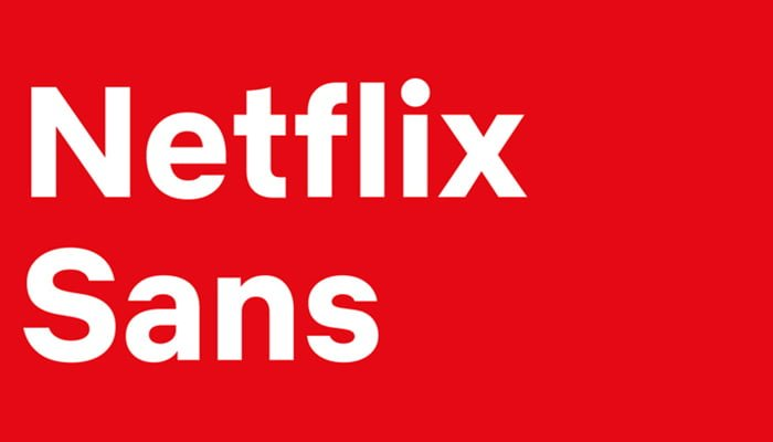 Netflix saca nueva tipografía